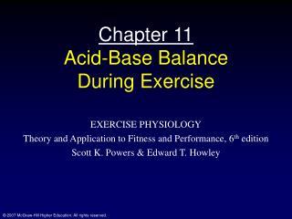 Part 11 Acid-Base Balance During Exercise