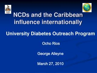 NCDs and the Caribbean impact globally