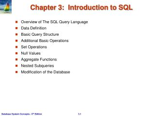 Part 3: Introduction to SQL
