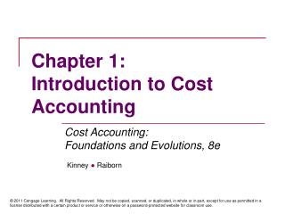 Section 1: Introduction to Cost Accounting
