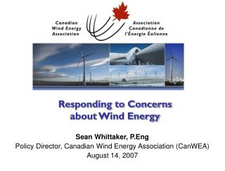 Reacting to Concerns about Wind Energy