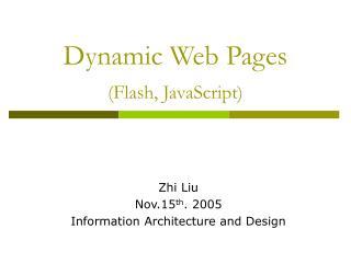 Element Web Pages Flash, JavaScript