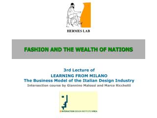 Design AND THE WEALTH OF NATIONS