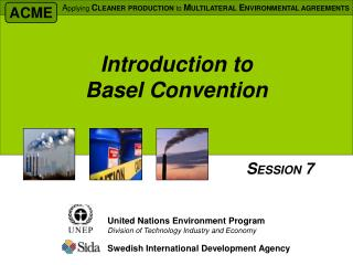 Prologue to Basel Convention
