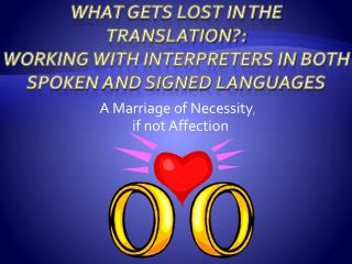 What Gets Lost in the Translation: Working With Interpreters in both Spoken And Signed Languages