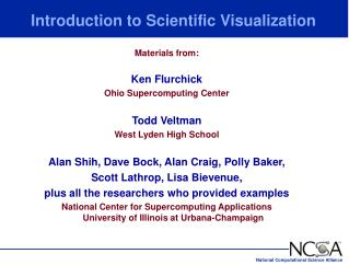 Prologue to Scientific Visualization
