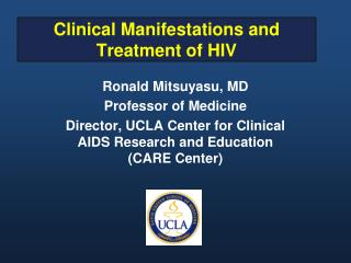 Clinical Manifestations and Treatment of HIV