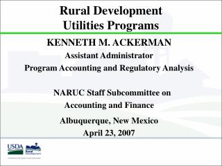 Rustic Development Utilities Programs