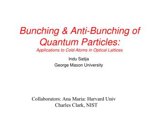 Packing Anti-Bunching of Quantum Particles: Applications to Cold Atoms in Optical Lattices