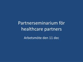 Partnerseminarium f r human services accomplices