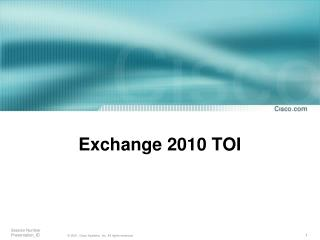 Trade 2010 TOI
