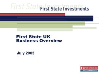 To start with State UK Business Overview