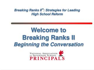 Breaking Ranks II : Strategies for Leading High School Reform