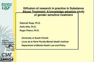Dispersion of examination by and by in Substance Abuse Treatment: A learning selection investigation of sexual orientat
