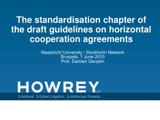 The institutionalization section of the draft rules on level collaboration assentions