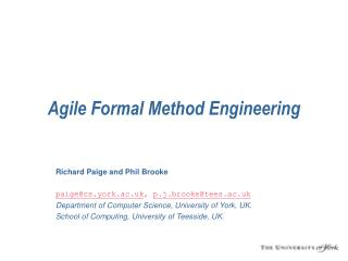 Deft Formal Method Engineering