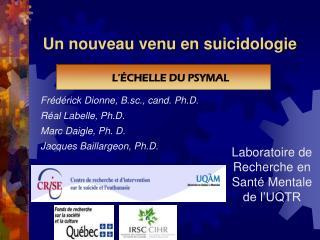 Un nouveau venu en suicidologie