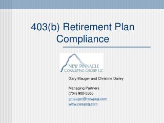 403b Retirement Plan Compliance