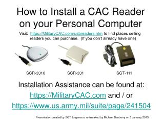 Step by step instructions to Install a CAC Reader on your Personal Computer