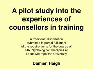 A pilot study into the encounters of instructors in preparing