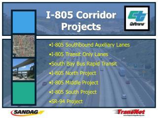 I-805 Corridor Projects