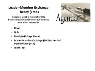 Pioneer Member Exchange Theory LMX
